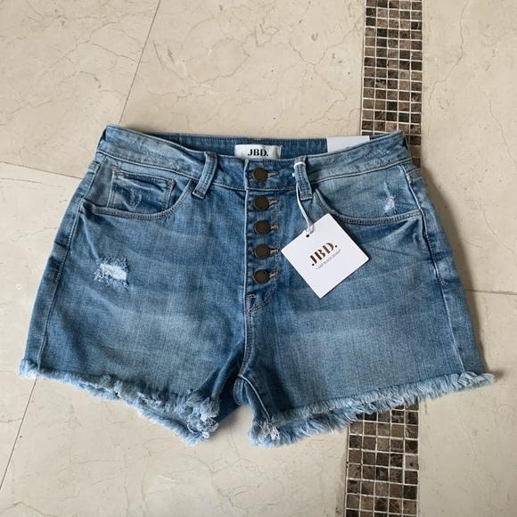Brand New Distressed High Waisted Denim Shorts